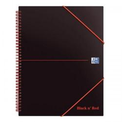 Cheap Stationery Supply of Black n Red Meeting Bk Poly Wbnd 90gsm Ruled Margin Perf Punched 4 Holes 160pp A4+ 100104323 Pack of 5 Office Statationery