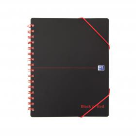 Black n Red Meeting Bk Poly Wbnd 90gsm Ruled Margin Perf Punched 2 Holes 160pp A5+ Ref 100100893 Pack of 5
