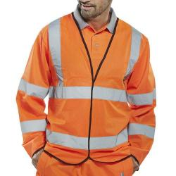 Cheap Stationery Supply of B-Seen High Visibility Long Sleeve Jerkin 4XL Orange PKJENGOR4XL *Up to 3 Day Leadtime* Office Statationery