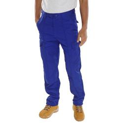 Cheap Stationery Supply of Super Click Workwear Drivers Trousers Royal Blue 32 PCTHWR32 *Up to 3 Day Leadtime* Office Statationery