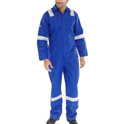 Cheap Stationery Supply of Click Fire Retardant Boilersuit Nordic Design Cotton 42 Royal Blue CFRBSNDR42 *Up to 3 Day Leadtime* Office Statationery