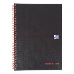 Cheap Stationery Supply of Black n Red Notebook Wirebound 90gsm Ruled and Perforated 140pp B5 400099450 Pack of 5 Office Statationery
