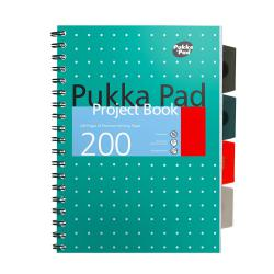 Cheap Stationery Supply of Pukka Metallic Project Book B5 80gsm Green 8518-MET Pack of 3 Office Statationery