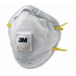 Cheap Stationery Supply of 3M Mask P1V Cup-shaped Respirator White 8812LL Pack of 10 *Up to 3 Day Leadtime* Office Statationery