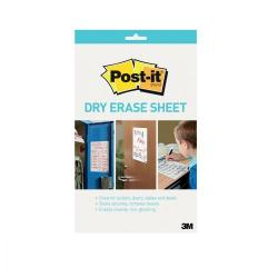 Cheap Stationery Supply of Post-it Super Sticky Dry Erase Sheets Self-adhesive 279x390mm White DEFPackL-EU 15 Sheets Office Statationery