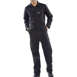 Cheap Stationery Supply of Super Click Workwear Heavy Weight Boilersuit Black 46 PCBSHWBL46 *Up to 3 Day Leadtime* Office Statationery