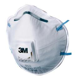 Cheap Stationery Supply of 3M Mask P2V Cup-shaped Respirator White 8822LL Pack of 10 *Up to 3 Day Leadtime* Office Statationery