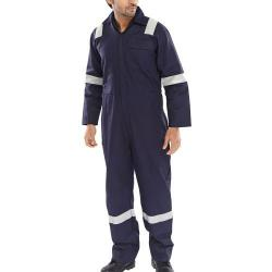 Cheap Stationery Supply of Click Fire Retardant Boilersuit Nordic Design Cotton 46 Navy CFRBSNDN46 *Up to 3 Day Leadtime* Office Statationery