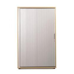 Cheap Stationery Supply of Sonix Office Furniture (100x52.5x160cm) Tambour Medium Cupboard (Beech/Silver) w9870b Office Statationery