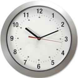 Cheap Stationery Supply of 5 Star Facilities Wall Clock with Coloured Case Diameter 300mm Silver Office Statationery