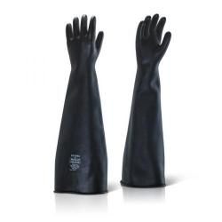 Cheap Stationery Supply of Ansell Industrial Latex Medium Weight 24inch Gauntlet Black Size 08 ILMW2408 *Up to 3 Day Leadtime* Office Statationery