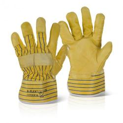 Cheap Stationery Supply of B-Flex Canadian Yellow Hide Rigger Glove CANYHSP Pack of 10 *Up to 3 Day Leadtime* Office Statationery