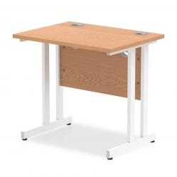 Cheap Stationery Supply of Trexus Desk Rectangle Cantilever White Leg 800x600mm Oak MI002905 Office Statationery