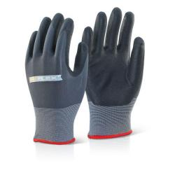 Cheap Stationery Supply of B-Flex Nitrile Pu Mix Coated Glove Black/Grey L Pack of 100 BF1L *Up to 3 Day Leadtime* Office Statationery