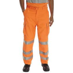 Cheap Stationery Supply of BSeen Rail Spec Trousers Teflon Hi-Vis Reflective 40-Tall Orange RST40T *Up to 3 Day Leadtime* Office Statationery