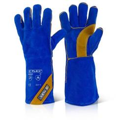 Cheap Stationery Supply of B-Flex Cat Ii Blue Gold Welder Glove Blue BFHQW Pack of 10 *Up to 3 Day Leadtime* Office Statationery