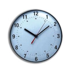 Cheap Stationery Supply of 5 Star Facilities Wall Clock Diameter 250mm with White Face & Black Case Office Statationery