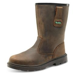 Cheap Stationery Supply of Click Traders S3 PUR Rigger Boot PU/Rubber/Leather Size 10.5 Brown CTF48BR10.5 *Up to 3 Day Leadtime* Office Statationery