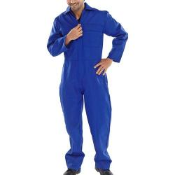 Cheap Stationery Supply of Click Fire Retardant Boilersuit Cotton Size 48 Royal Blue CFRBSR48 *Up to 3 Day Leadtime* Office Statationery