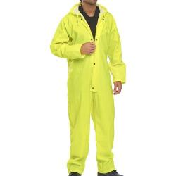 Cheap Stationery Supply of B-Dri Weatherproof Coveralls Nylon XL Yellow NBDCSYXL *Up to 3 Day Leadtime* Office Statationery