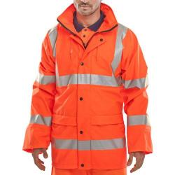 Cheap Stationery Supply of BSeen High Visibility Super B-Dri Breathable Jacket Medium Orange PUJ471ORM *Up to 3 Day Leadtime* Office Statationery