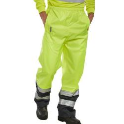 Cheap Stationery Supply of B-Seen Belfry Over Trousers Polyester Hi-Vis 2XL Yellow/Navy Blue BETSYNXXL *Up to 3 Day Leadtime* Office Statationery