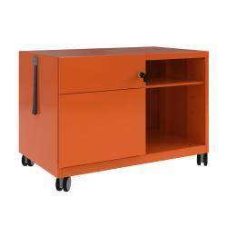 Cheap Stationery Supply of Bisley Caddy Pedestal Left Hand 800x490x563 Orange CADM08LH-bn6 Office Statationery