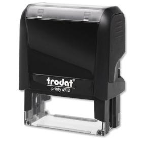 Trodat Printy 4912 Bespoke Custom Stamp Self-Inking Up to 4 lines 46x16mm Ref VC4912