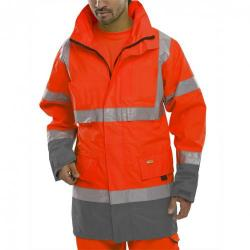 Cheap Stationery Supply of B-Seen Hi-Vis Two Tone Breathable Traffic Jacket 3XL Red/Grey BD109REGYXXXL *Up to 3 Day Leadtime* Office Statationery