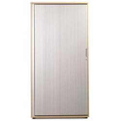 Cheap Stationery Supply of Sonix Office Furniture (100x52.5x200cm) Tambour Tall Cupboard (Beech/Silver) w9871b Office Statationery