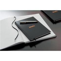 Cheap Stationery Supply of Rhodia (A4) Business Book Casebound Hard Back Ruled (Black) Pack of 3 119230C Office Statationery
