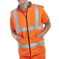 Cheap Stationery Supply of B-Seen Reversible Hi-Vis Bodywarmer Medium Orange/Grey BWENGORM *Up to 3 Day Leadtime* Office Statationery