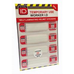 Cheap Stationery Supply of Vitalid Hard Hat ID Induction Stickers WSID03 Pack of 25 *Up to 3 Day Leadtime* Office Statationery