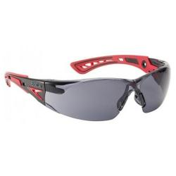 Cheap Stationery Supply of Bolle Rushplus Platinum Safety Glasses Smoke/Red BORUSHPPSFPLUS *Up to 3 Day Leadtime* Office Statationery