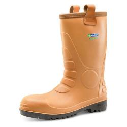 Cheap Stationery Supply of Click Traders Euro Rig Boots Steel Toecap PVC Size 10 Tan ER10 *Up to 3 Day Leadtime* Office Statationery
