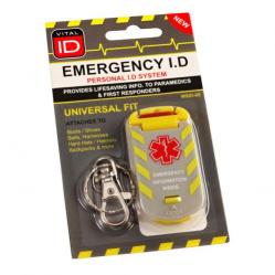 Cheap Stationery Supply of Vitalid Emergency ID Universal Fit Tag Wsid-05 WSID05 *Up to 3 Day Leadtime* Office Statationery