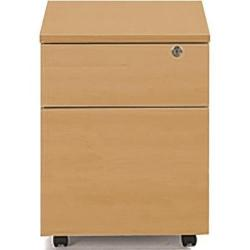 Cheap Stationery Supply of Sonix Office Furniture (43x57.5x56.5cm) Mobile Two Drawer Pedestal (Beech) w9974b Office Statationery