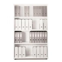 Cheap Stationery Supply of Sonix Office Furniture (100x42.5x160cm) Tall Bookcase with Three Shelves (White) w9873wh Office Statationery