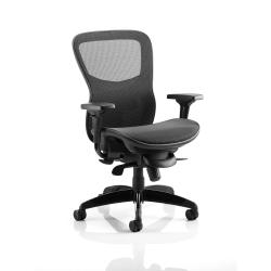 Cheap Stationery Supply of Adroit Stealth Shadow Ergo Posture Chair With Arms Mesh Seat And Back Black PO000021 Office Statationery