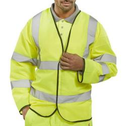 Cheap Stationery Supply of B-Seen High Visibility Long Sleeve Jerkin XL Orange PKJENGXL *Up to 3 Day Leadtime* Office Statationery