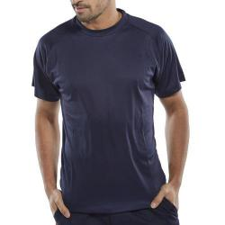 Cheap Stationery Supply of B-Cool T-Shirt Lightweight L Navy Blue BCTSNL *Up to 3 Day Leadtime* Office Statationery