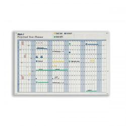 Cheap Stationery Supply of Mark-it Perpetual Year Planner Laminated with Repositionable Date Strips W900xH600mm DPYP Office Statationery