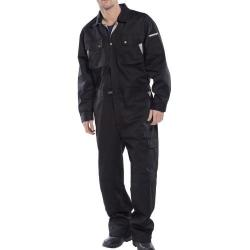 Cheap Stationery Supply of Click Premium Boilersuit Size 46 Black CPCBL46 *Up to 3 Day Leadtime* Office Statationery
