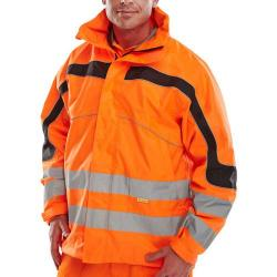 Cheap Stationery Supply of B-Seen Eton High Visibility Breathable EN471 Jacket Medium Orange ET46ORM *Up to 3 Day Leadtime* Office Statationery