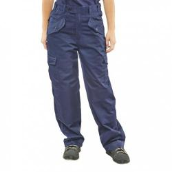 Cheap Stationery Supply of Super Click Workwear Ladies Polycotton Trousers Navy Blue 42 LPCTHWN42 *Up to 3 Day Leadtime* Office Statationery
