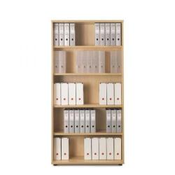 Cheap Stationery Supply of Sonix Office Furniture (100x42.5x200cm) Very Tall Bookcase with Four Shelves (Beech) w9874b Office Statationery
