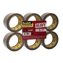 Cheap Stationery Supply of Scotch Heavy Packaging Tape High Resistance Hotmelt 50mmx66m Brown Pack of 6 UU005262843 Office Statationery