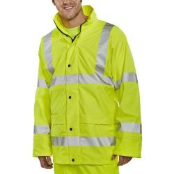 Cheap Stationery Supply of BSeen High-Vis Super B-Dri Breathable Jacket Large Saturn Yellow PUJ471SYL *Up to 3 Day Leadtime* Office Statationery
