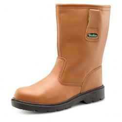 Cheap Stationery Supply of Click Traders S3 Thinsulate Rigger Boot PU/Leather Size 4 Tan CTF2804 *Up to 3 Day Leadtime* Office Statationery