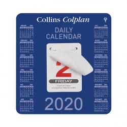 Cheap Stationery Supply of Collins Colplan 2020 Daily Block Calendar 12 Month Daily Tear-off 165x175mm White/Blue CDBC 2020 Office Statationery